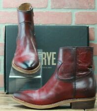 Frye Billy Inside Zip Bootie 70808 Red Leather Casual Dress Boots Size 10 M