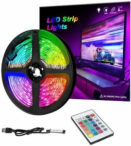 10FT LED Strip Lights, USB TV Backlight with Remote, 16 Color Changing lights
