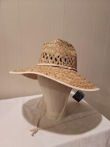 Poolmaster Life Guard Hat Sun Blocking Straw Oversized NWT
