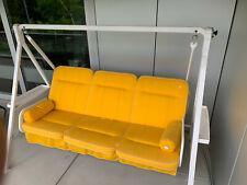 Kettler 3er Hollywoodschaukel gelb/weiss, mit Dach, Top-Zustand