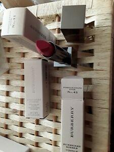 1 X Burberry Lip Velvet Long Lasting Matte Lip Colour Pomegranate Pink No.41