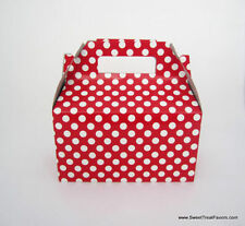 Red White Polka Party Supplies Boxes Birthday Decoration Gable Loots x12 Dots Nw