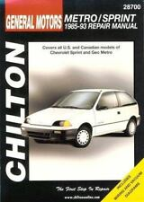 GM Metro/Sprint 1985-93 (Chilton's Total Car Care Repair Manual)-ExLibrary