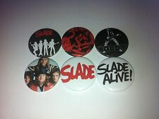 6 Slade button badges 25mm Cum on Feel the Noize Noddy Hoder Far Far Away