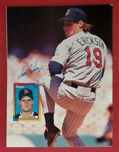 Scott Erickson Autograph 1990-1995 Twins Signed September 1991 Beckett Magazine