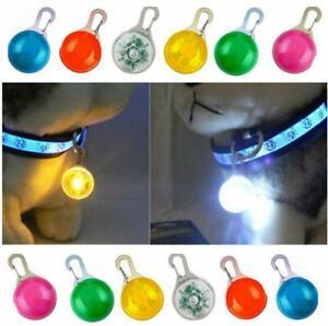 Waterproof Pet Cat Dog Collar LED Flashing Luminous Light Night Safety Clips Tag