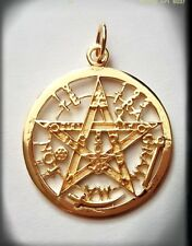 TETRAGRAMMATON PLATA CHAPADO ORO SILVER GOLD PENTAGRAMA ESOTERICO,TALISMAN ORO