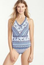 7518748605f40   NWT  152 TOMMY BAHAMA SIZE 12 PAISLEY TERRACE ONE PIECE SWIMSUIT B3