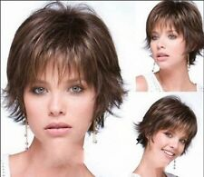 FIXSF678 short brown mix new style fashion natural hair wigs for women wig