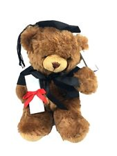 9.5''/23.5cm Sitting Graduation Bear Plush Soft Toy Uni College Brown Teddy Bear