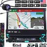 "Autoradio 1Din Stereo 7"" GPS Navigatore Bluetooth USB AUX SD DVD CD Motorizzato/"