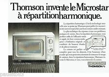 PUBLICITE ADVERTISING 126  1986   Thomson (2p) le four micro-ondes Microstar
