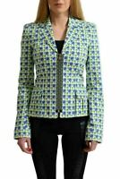 Versace Women's Multi-Color Zip Up Blazer US 4 IT 38