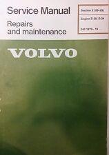 Volvo 240 Master Service Manual D20 D24 Diesel Engine 1979-up sec 2(20-29) 184pg