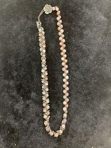 Love Heals Necklace, 15 Inch Brown Woven Unique Necklace Cherry Quartz?