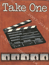 Take One Metal Sign, Home Cinema, Movie, Den Decor