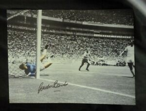 Gordon Banks Hand Signed Pele Save Of The Century Print From His Agent £18