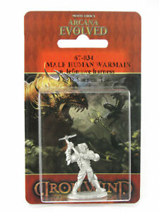 Male Human Warmain in Definitive Harness #67-034 Arcana Unearthed Evolved Metal