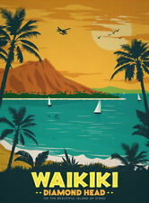 KLIBAN BIG TOURIST CAT 2D MAGNET New Hawaii Hawaiian Beach Diamond Head Seashell