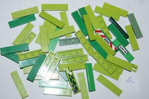 LEGO 55 GREEN 1x4 smooth floor TILES / Blocks # 2431 HOUSE / CASTLE (Ah) GENUINE