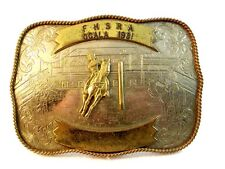 1981 FHSRA Ocala Rodeo Belt Buckle by Montana Silversmith