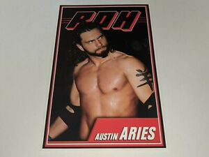 "AUSTIN ARIES Ring Of Honor ROH Wrestling Jumbo Trading Card 5"" x 7"" RARE"
