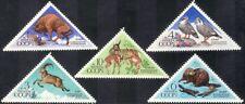 Russia 1973 Bison/Ibex/Deer/Beaver/Nature Reserves/Animals/Birds 5v set (n44087)