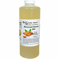 Almond Sweet Oil - 1 Quart 32 Oz Safety Sealed Hdpe Container Resealable Cap