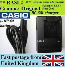 ORIGINALE Casio Charger bc-60l np-60, Exilim ex-z80, ex-z85, ex-z20 z19 z10 z9 s10