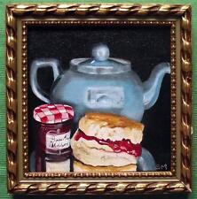 Tea, Scone and Bonne Maman :Original Oil Painting by Susan Ballantyne - Mortimer