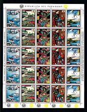 [72730] Paraguay 1972 Japan Birds Samurai Geisha Full Sheet Multiple Folded MNH