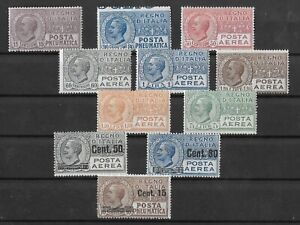 Italy Pneumatic Post And Airmails, Much MNH, Min Cat SASS €500 (A81)