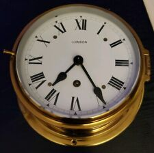 Vintage London 8 day Ship Wall Brass Clock
