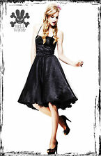HELL BUNNY BLACK PARTY SPARKLY 50'S DRESS S 8 10 prom vintage 1950's lindyhop