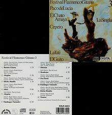 FESTIVAL FLAMENCO GITANO  vol. 3  - PACO DE LUCIA , EL CHATO