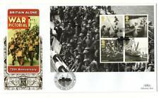 2010 Mini Sheet  Britain Alone War Pictorial 70th Anniv.  Benham Gold 500 FDC