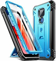 Motorola Moto G Play 2021 Case Poetic® Military Shockproof Kickstand Cover Blue