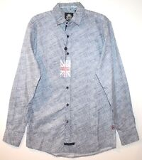 English Laundry Mens Navy Blue Geometric Button-Front Dress Shirt NWT $89 Size S