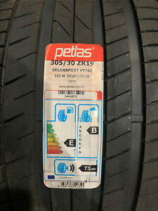 1 New 305 30 19 Petlas Velox Sport PT741 Tire