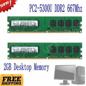 Samsung 4GB 2x 2GB DDR2 667MHz PC2-5300U 240Pin CL5 DIMM Desktop Memory SDRAM BT