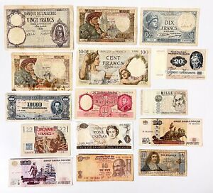 Various Foreign Currency World Paper Money Banknotes Notes MIX BUNDLE LOT OF 15