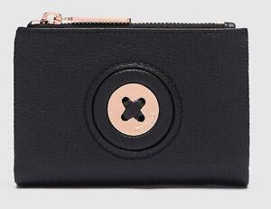 MIMCO Black Wallet MIM Mazing Medium BNWT Rose Gold Hardware Dust Bag RRP$149