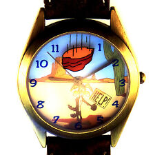 Wile E. Coyote Fossil Warner Bros Watch Collection, Mans Lr-Band Htf Unworn $115
