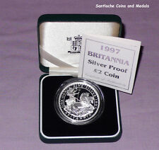 1997 ROYAL MINT SILVER PROOF £2 BRITANNIA IN CASE - Scarce First Issue