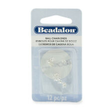 Beadalon® Ball Chain Ends 3.8mm Silver Plated 12 pieces * Findings