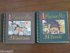 ONE MASTER MIX - 51 CAKES & CUPCAKES - 51 BREADS - SPIRAL-BOUND - BRAND NEW