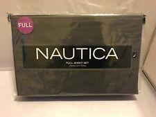 100% COTTON NAUTICA Full Sheet Set (NIP) Dark Gray/Stone