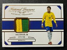 2018 NATIONAL TREASURES NEYMAR JERSEY PATCH /35 BRAZIL PSG **RARE**