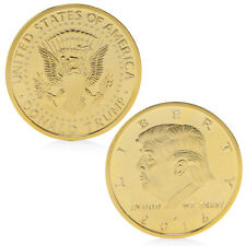 President Donald Trump In God We Trust Golden Commemorative Coin Token Gifts Hot