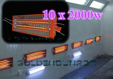 10 Sets* 2KW Spray/Baking booth Infrared Paint Curing Lamp Heating Light Heaters